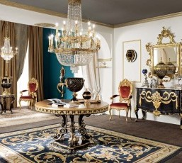 Gold and Black Furniture