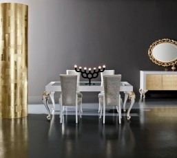 Minimal Baroque Dining Room