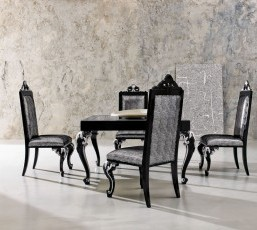 Minimal Baroque Dining Table and Chairs