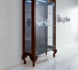 Baroque Style Glass Cabinet