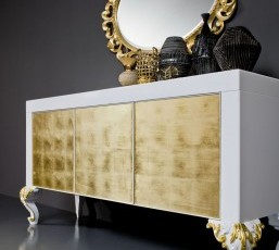 Minimal Baroque Side Cabinet