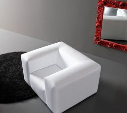 Minimal Baroque White Sofa