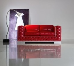 Minimal Baroque Red Sofa