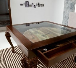 Minimal Baroque Glass Table