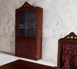 Minimal Baroque Glass Cabinet