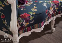 Modern Floral Couch