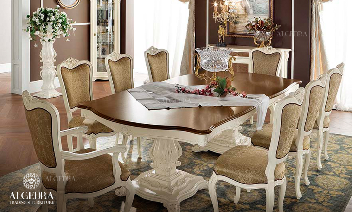 Of The Designs And With Furniture A Victorian Or Oriental Arabic Character Golden Color Makes Dining Room Look Like Royal